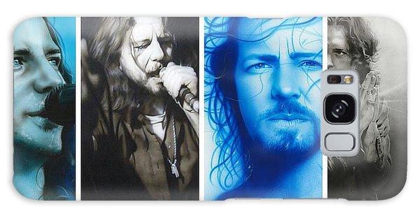 Eddie Vedder - ' Vedder Mosaic I ' Galaxy Case by Christian Chapman Art