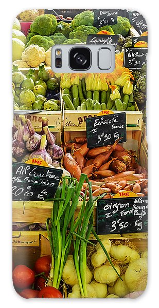 Veg At Marche Provencal Galaxy Case by Allen Sheffield