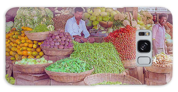 Vegetable Seller In Indian Market Galaxy Case