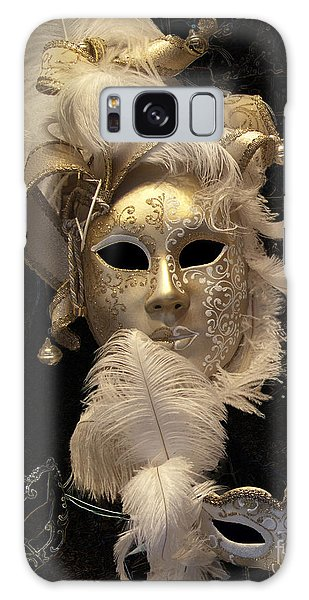 Galaxy Case featuring the photograph Venetian Face Mask B by Heiko Koehrer-Wagner