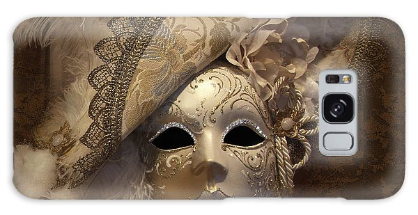 Galaxy Case featuring the photograph Venetian Face Mask F by Heiko Koehrer-Wagner