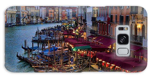 Venetian Grand Canal At Dusk Galaxy Case by David Smith