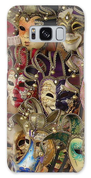 Venetian Masks Galaxy Case by Ramona Johnston