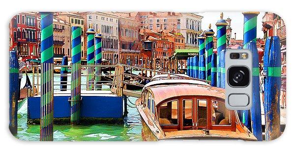 Venetian Water Taxi Galaxy Case