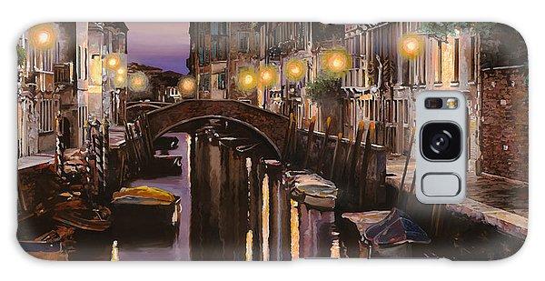 Docked Boats Galaxy Case - Venezia Al Crepuscolo by Guido Borelli