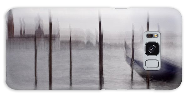 Abstract Black And White Blue Venice Italy Photography Art Work Galaxy Case by Artecco Fine Art Photography