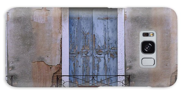Venice Blue Shutters Horizontal Photo Galaxy Case