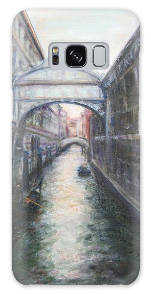 Venice Bridge Of Sighs - Original Oil Painting Galaxy Case