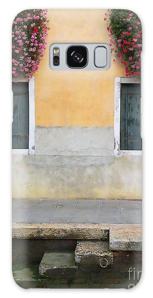 Venice Canal Shutters With Window Flowers Galaxy Case