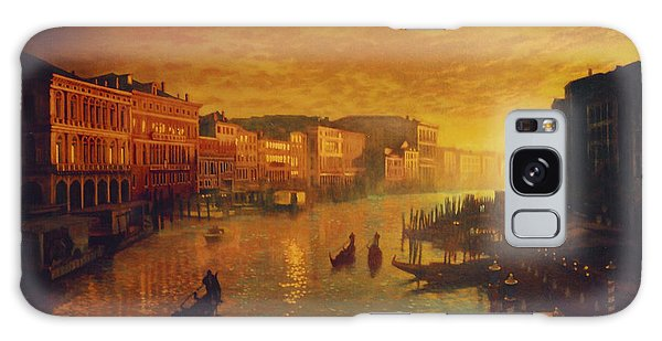 Venice From The Rialto Bridge Galaxy Case by Blue Sky