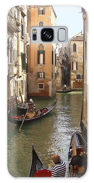 Galaxy Case featuring the photograph Venice Gondolas by Karen Zuk Rosenblatt