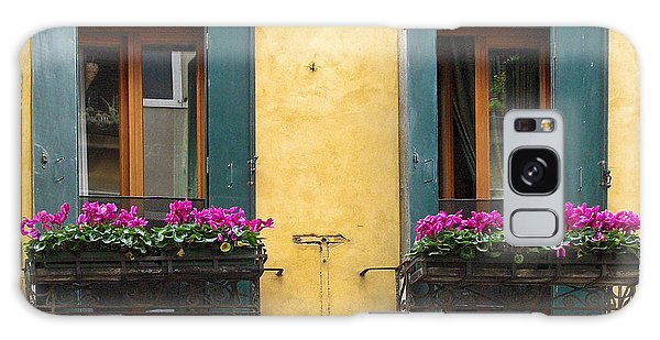 Venice Italy Teal Shutters Galaxy Case
