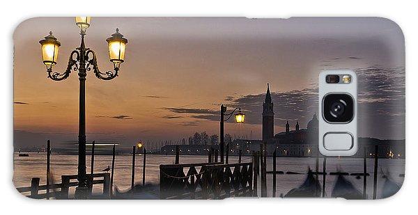 Venice Night Lights Galaxy Case by Marion Galt
