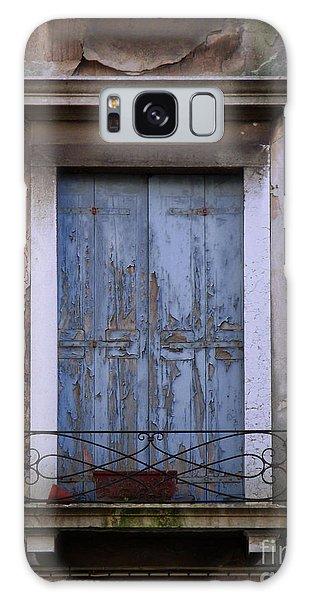 Venice Square Blue Shutters Galaxy Case