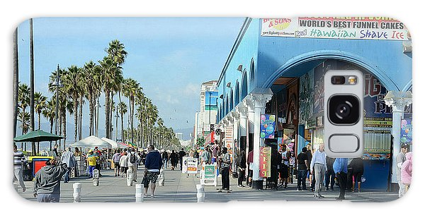 Venice Street Scene Galaxy Case