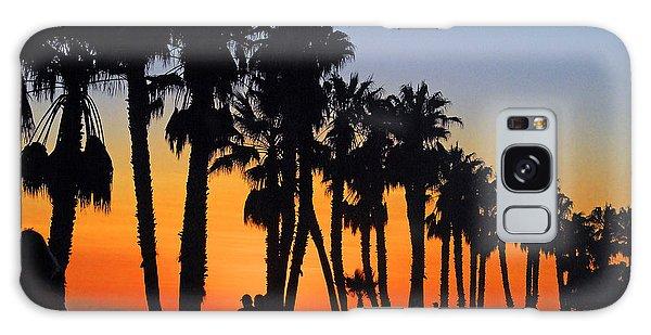 Ventura Boardwalk Silhouettes Galaxy Case by Lynn Bauer