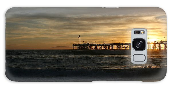 Ventura Pier 01-10-2010 Sunset  Galaxy Case by Ian Donley