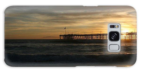 Ventura Pier 01-10-2010 Sunset  Galaxy Case by Ian Donley