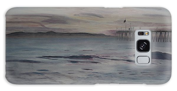Ventura Pier High Surf Galaxy Case by Ian Donley