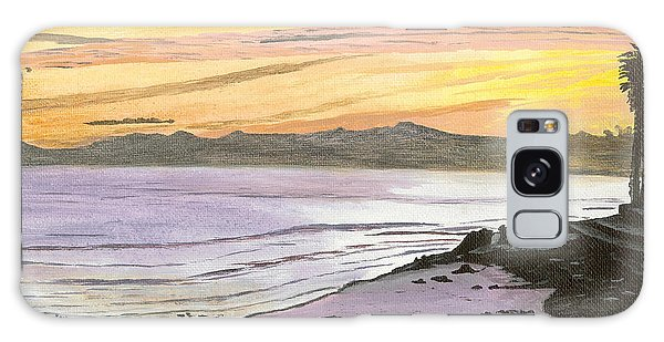 Ventura Point At Sunset Galaxy Case by Ian Donley