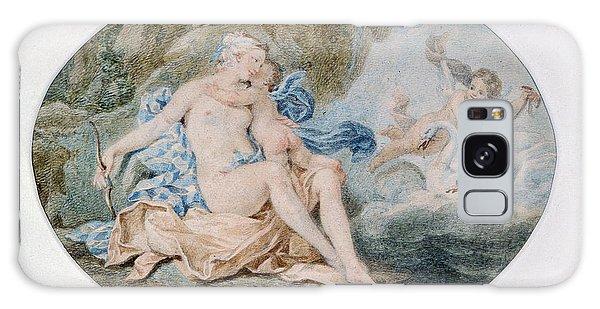 Mythological Galaxy Case - Venus Reclining On A Bank Strewn With Drapery Watercolour by Francesco Bartolozzi