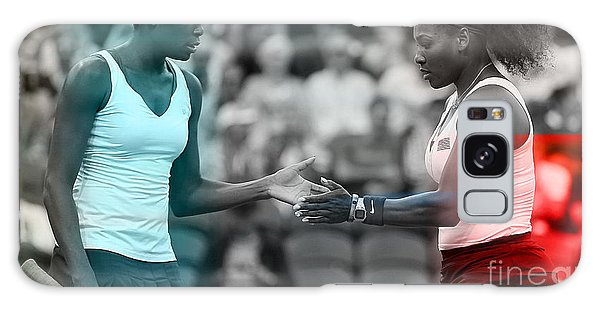 Venus Williams And Serena Williams Galaxy Case by Marvin Blaine