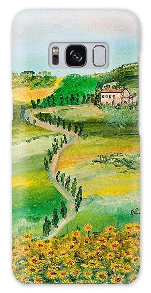Verde Sentiero Galaxy Case by Loredana Messina