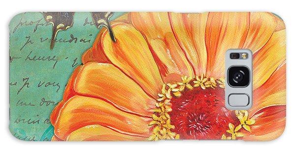 Bloom Galaxy Case - Verdigris Floral 1 by Debbie DeWitt