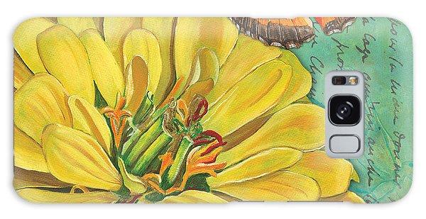 Bloom Galaxy Case - Verdigris Floral 2 by Debbie DeWitt