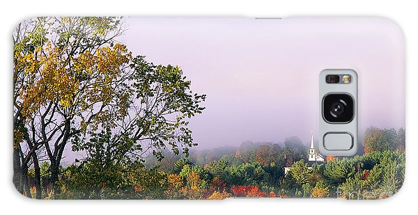 Vermont Autumn Morning Galaxy Case by Alan L Graham