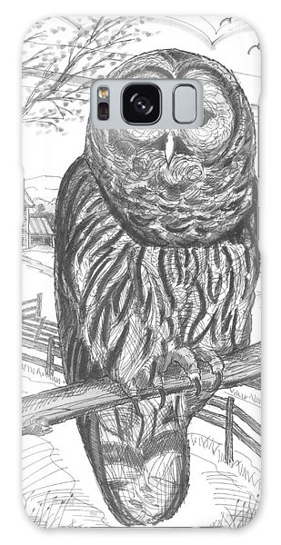 Vermont Barred Owl Galaxy Case