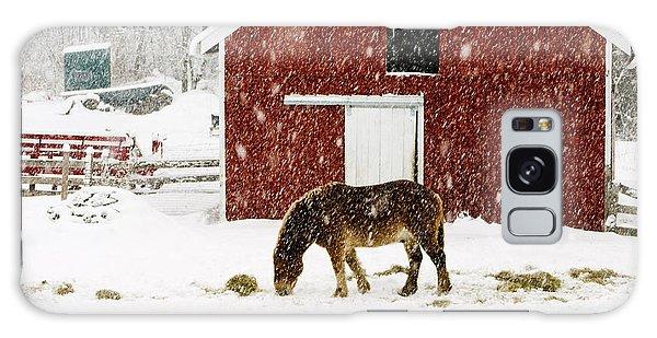 Vermont Christmas Eve Snowstorm Galaxy Case