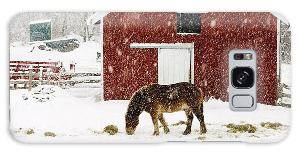 Vermont Christmas Eve Snowstorm Galaxy Case by Edward Fielding