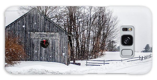 Vermont Christmas Lane Galaxy Case by Dawn Romine