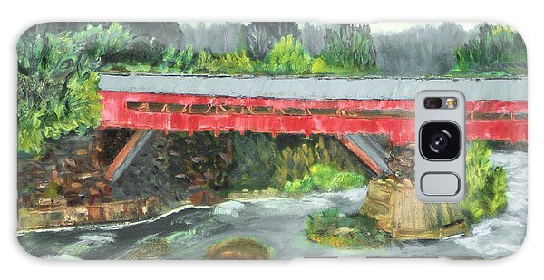 Vermont Covered Bridge Galaxy Case by Michael Daniels