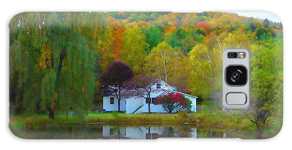 Vermont House In Full Autumn Galaxy Case