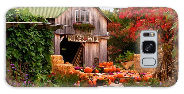 Vermont Pumpkins And Autumn Flowers Galaxy Case by Jeff Folger