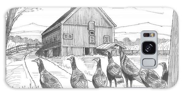 Vermont Wild Turkeys Galaxy Case