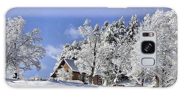 Vermont Winter Beauty Galaxy Case