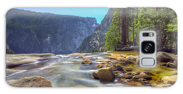 Vernal Falls Overlook Galaxy Case by Mike Lee