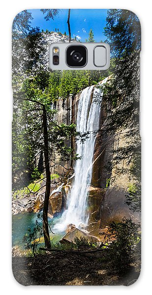 Vernal Falls Through The Trees Galaxy Case by Mike Lee