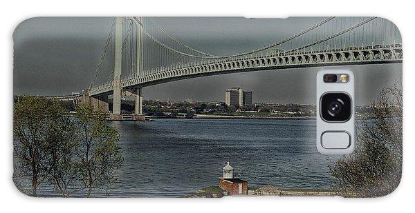 Verrazano Bridge And Fort Wadsworth Galaxy Case by Nancy De Flon