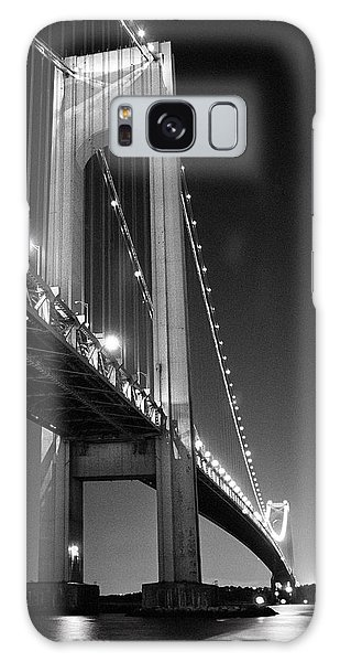 Verrazano Bridge At Night - Black And White Galaxy Case