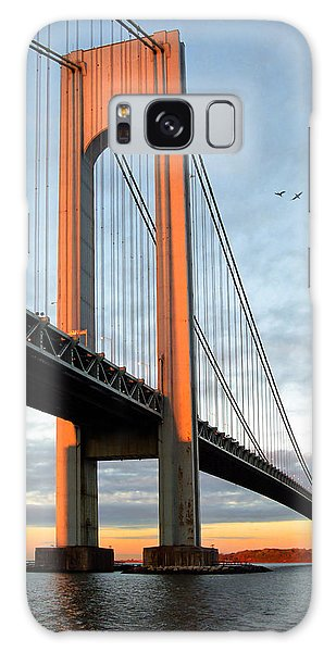Verrazano Bridge At Sunrise - Verrazano Narrows Galaxy Case