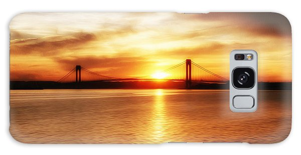 Verrazano Bridge At Sunset Galaxy Case