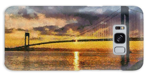 Verrazano Bridge During Sunset Galaxy Case