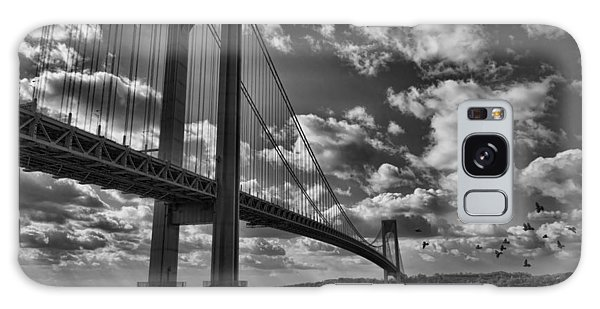 Verrazano Narrows Bridge In Bw Galaxy Case by Terry Cork