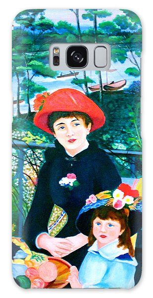Version Of Renoir's Two Sisters On The Terrace Galaxy Case by Lorna Maza