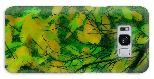 Vert Leaves Galaxy Case by Kristen R Kennedy