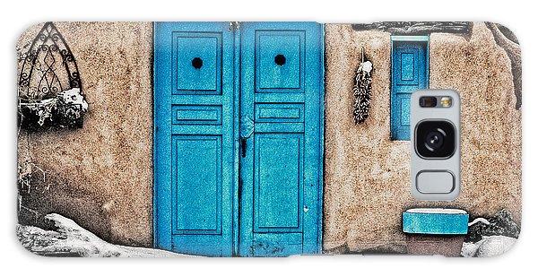 Very Blue Door Galaxy Case